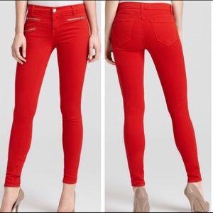 J BRAND Skinny Jeans Zoe Lipstick Red 28